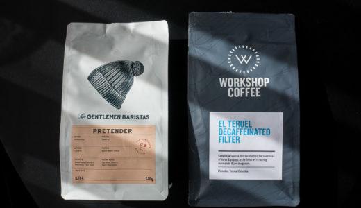 「The Gentlemen Baristas」と「Workshop Coffee」でディカフの豆を買ってみた